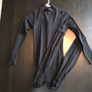 American Apparel Bodysuit SMALL Halloween Black
